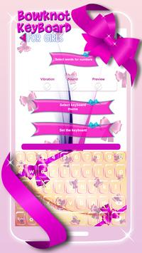 Bowknot Keyboard For Girls poster