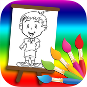 Little Boy New Coloring Book icon