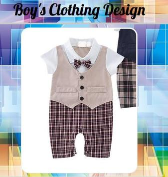Boy's Clothing Design poster