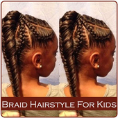 Braid Hairstyle For Kids icon