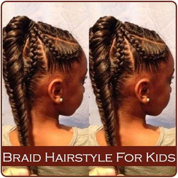 Braid Hairstyle For Kids poster