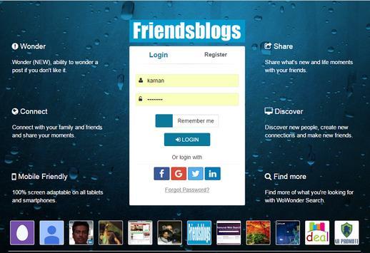 Friendsblogs apk screenshot
