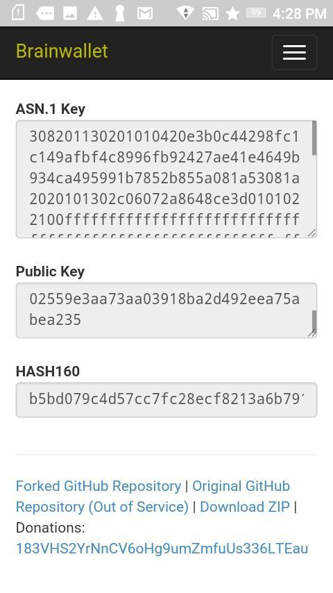 Secure Offline Bitcoin Brainwallet Generator for Android