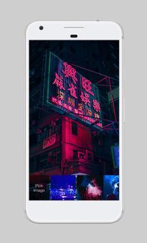 Cyberpunk City Light Town Neon People Lock App apk screenshot