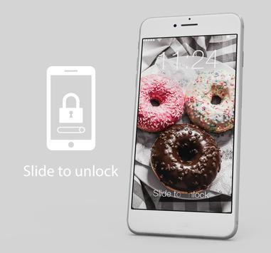 Sweet Donut Cute Omnomnom Lock Screen poster