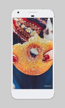 Sweet Donut Cute Omnomnom Lock Screen apk screenshot