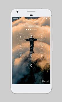Jesus Christ Sky Shilouette Kindness App Lock screenshot 1