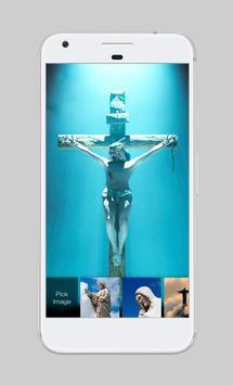 Jesus Christ Sky Shilouette Kindness App Lock screenshot 2