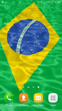 Brazil Flag Wallpaper 3d apk screenshot