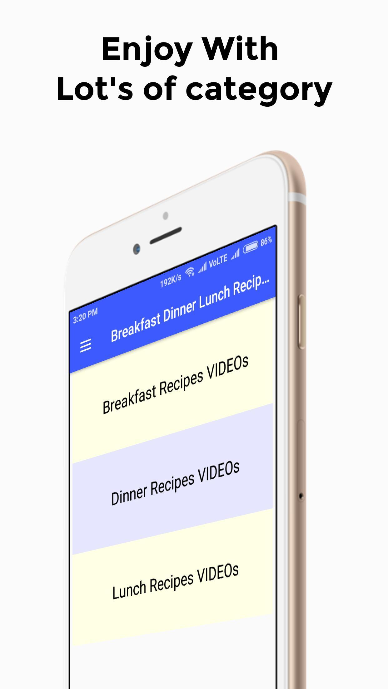 Breakfast Dinner Lunch Recipes Videos For Android Apk Download