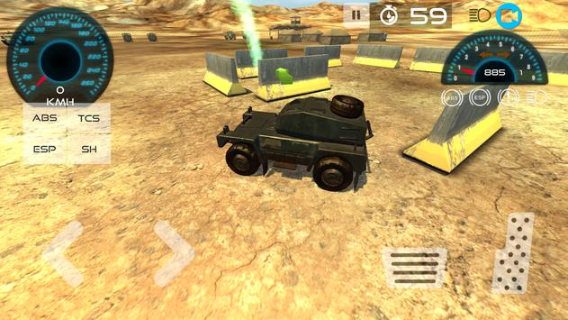 Military Vehicle Parking 3D poster
