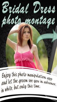 Bridal Dress Photo Montage poster