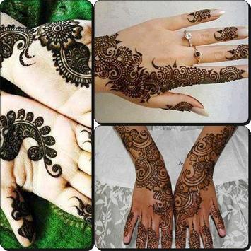 Henna Design Bridal Modern poster