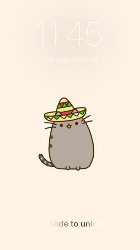 ... Pusheen Cat Kawaii Wallpaper HD Home Lock Screen screenshot 1 ...