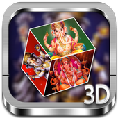 Ganesh 3D cube live wallpaper icon