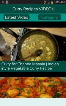 Curry Recipes VIDEOs apk screenshot