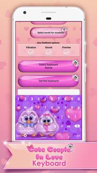 Cute Couple In Love Keyboard poster