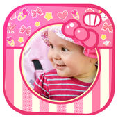 Cute Baby Girl Picture Frames icon