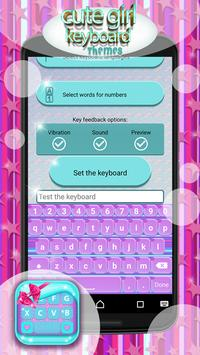 Cute Girl Keyboard Themes screenshot 3