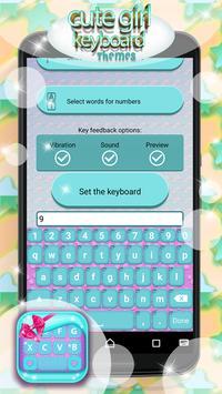Cute Girl Keyboard Themes screenshot 4