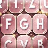 Cute Rose Gold Keyboard icon
