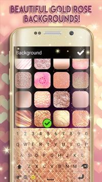 Cute Rose Gold Keyboard apk screenshot