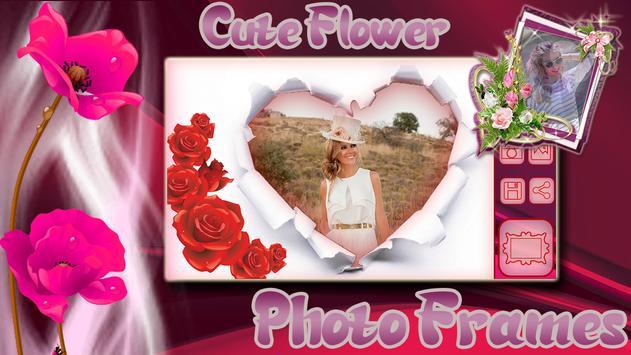 Cute Flower Photo Frames apk screenshot