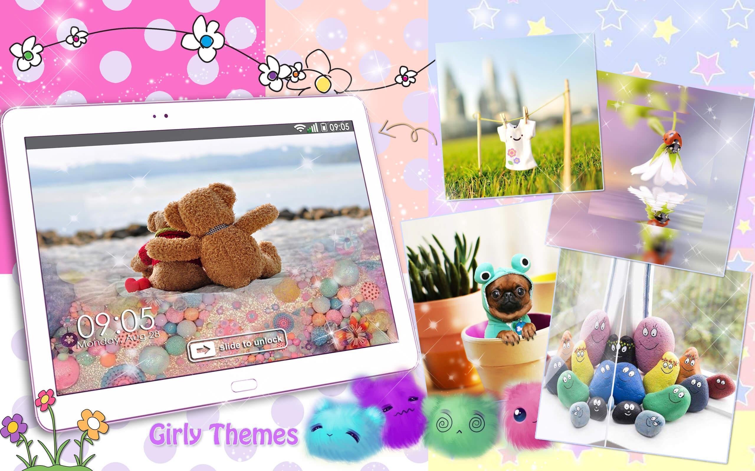 Android 用の 女の子ロック画面 壁紙 かわいい スクリーンセーバー Apk をダウンロード