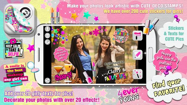 Cute PhotoBooth Girl Stickers apk screenshot