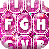 Pink Glitter Keyboard for Girls icon