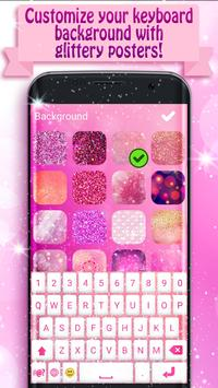 Pink Glitter Keyboard for Girls apk screenshot
