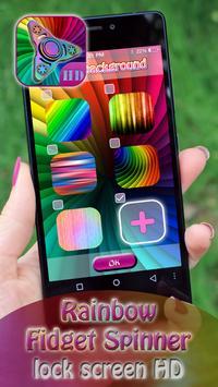 Rainbow Fidget Spinner Lock Screen HD apk screenshot