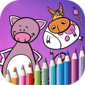 Cute Animals Coloring Book icon