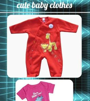 Cute Baby Clothes poster