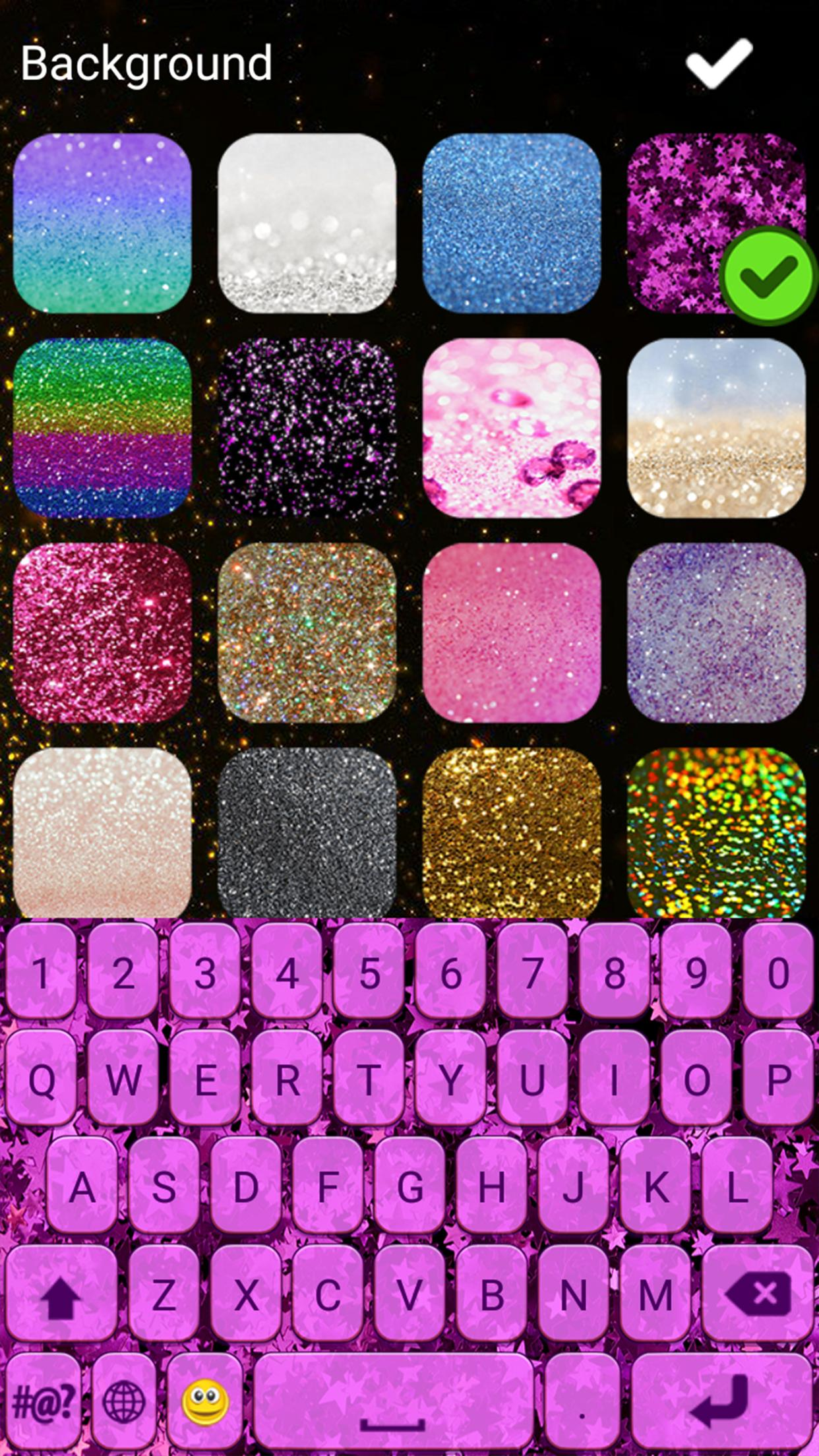 Glitter Keyboard Themes Cute Girly Keyboards For Android Apk Download