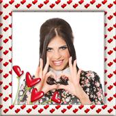 Cute Hearts Photo Frames icon