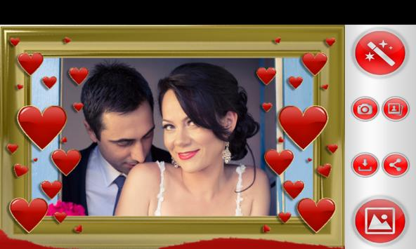 Cute Hearts Photo Frames poster