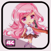 Cute Anime Pink wallpapers icon
