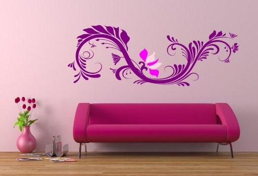 Cute Wall Painting Design poster