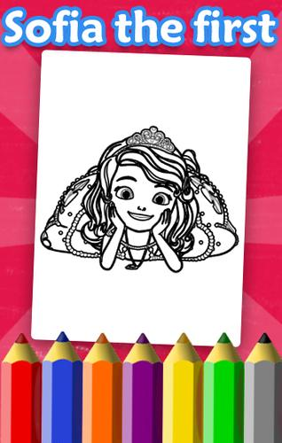 First Coloring Book For Sofia APK Baixar