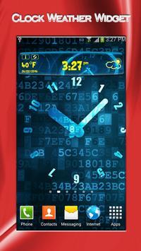 Clock Weather Widget apk screenshot