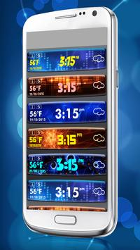 Digital Clock Weather Widget apk screenshot