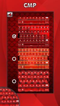Red Keyboard Theme apk screenshot