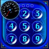 Speedometer Lock Screen icon
