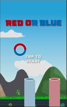 RED OR BLUE poster