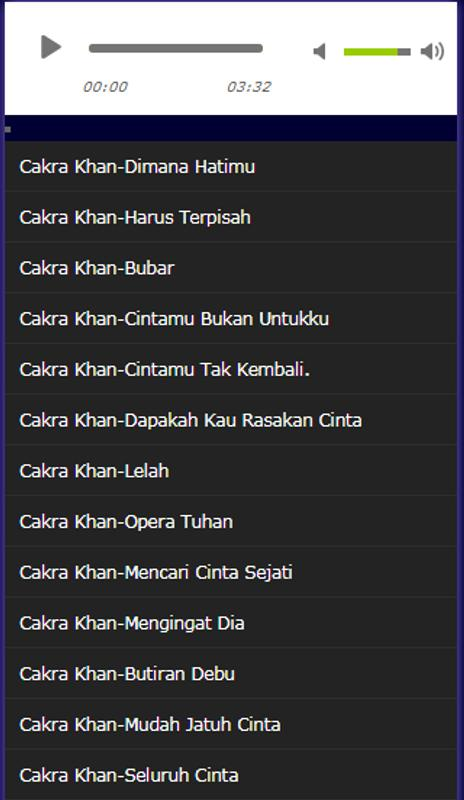 Lagu cakra khan terhitz apk download free music & audio app for.