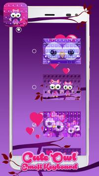 Cute Owl Emoji Keyboard screenshot 5