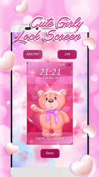 Cute Girly Lock Screen apk screenshot