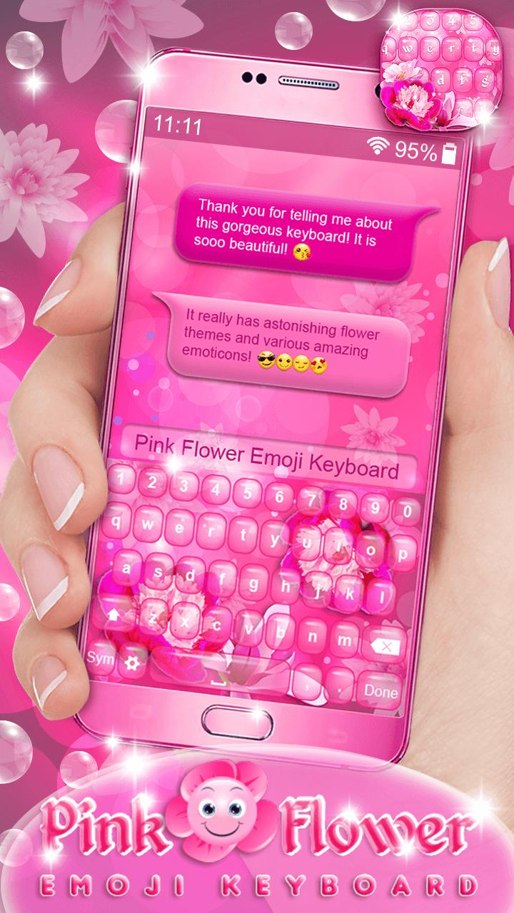 Pink Flower Emoji Keyboard For Android Apk Download