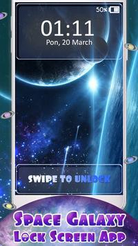 Space Galaxy Lock Screen App poster